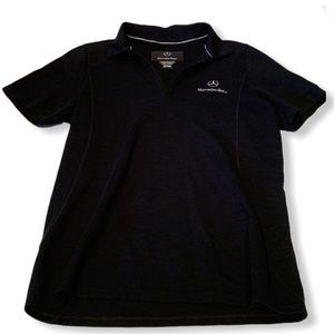 Mercedes Benz black shirt sleeve polo shirt Medium